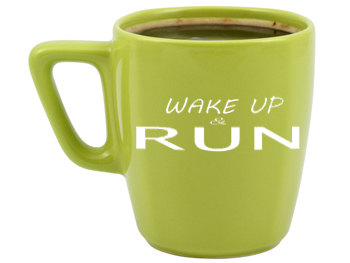 wake up and run mug